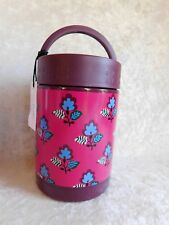 c0f16ef3d0 VERA BRADLEY LUNCH CONTAINER ROSE DITSY THERMOSES HOT   COLD NWT STAINLESS  SOUP