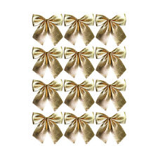 5cm Christmas Tree Tie-On Velvet Bow Decorations - Gold, Silver or Red