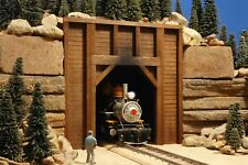 G SCALE TUNNEL PORTAL BUILDING FOR USE w LGB ACCUCRAFT TRAIN TRACK & LOCOMOTIVES