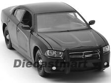 2011 DODGE CHARGER PURSUIT SLICK UNMARKED BLACK POLICE CAR 1:24 MOTORMAX 76953