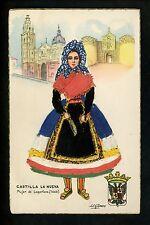 Embroidered clothing postcard Artist Gismero , Spain Toledo woman