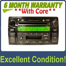 02 03 04 TOYOTA Camry JBL RDS Radio Stereo 6 Disc Changer Tape CD Player A56820