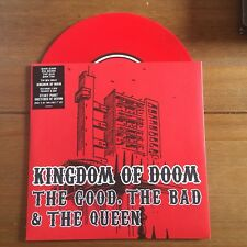 "The Good The Bad The Queen - Kingdom Of Doom   7"" Red Vinyl   Blur"
