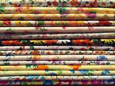 15 Fat Quarters Bundle ORANGES Polycotton Fabric Offcuts Scraps Remnants