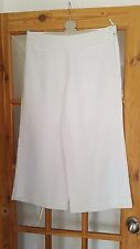 Super Per Una White Cropped Trousers, Long Length, Size 12, VGC