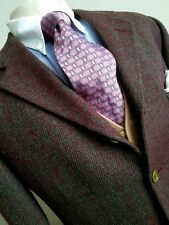 ROMEO GIGLI Bergdorf Goodman PURPLE & GREEN HERRINGBONE TWEED SPORT COAT - 42 R