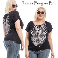 New Ladies Gorgeous Black Top Plus Size 18/2XL (9807)LL
