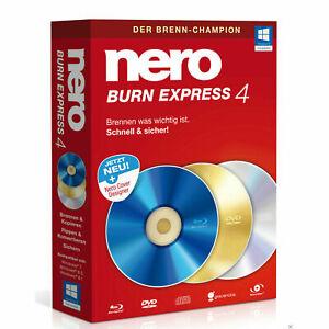 Nero Burn Express 4, Windows (PC), Sofortdownload, NEU!