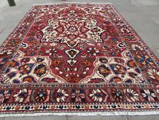 Vintage Hand Made Traditional Oriental Wool Red Brown Large Carpet 358x266cm