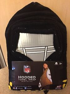 """Pittsburgh Steelers NFL Kids Hooded Towel Wrap New 23"""" X 51"""", New With Tags"""