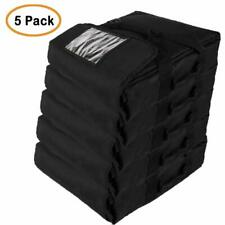 """Professional Insulated Pizza Delivery Bag, 20""""X20""""X9"""" (Pack of 5) Black"""