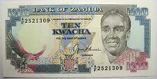 Very nice banknote-zambia - 10 kwacha - 1989-91 - new -