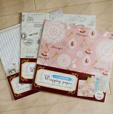 assorted 24 sheets elegant vintage style floral eiffel tower scrapbook paper set