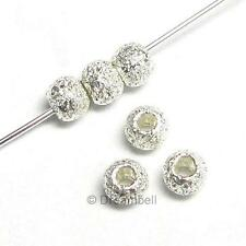 20 x STERLING SILVER STARDUST ROUND BEAD SPACER  2.5mm