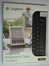 New Logitech by Zagg Bluetooth Keyboard w/ Stand for Apple iPad 2 / 3 / 4 Retina
