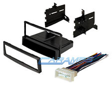CAR STEREO RADIO CD PLAYER DASH INSTALLATION TRIM BEZEL KIT WITH WIRING HARNESS