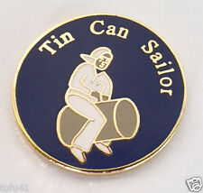 TIN CAN SAILOR  Military  Veteran US NAVY Hat Pin P15947 EE