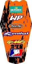 03-07 KTM Posteriore Kit Grafico 125 200 250 380 450 520 525 SX MXC EXC