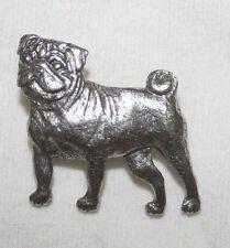 PUG Dog Pet Fine PEWTER PIN Jewelry Art USA Made NEW