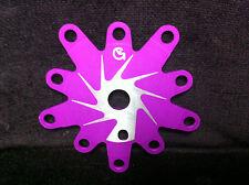 Very Rare NOS Purple Ano VG SPIDER Old School BMX Von Giese USA Chainring