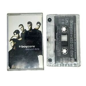 Boyzone Said and Done 1995 Cassette Tape in Case Original Debut Polygram Ireland