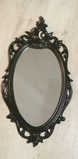 Syroco Louis XV Style Wall Mirror with Black Finish MCMLXV - 1965 U.S.A