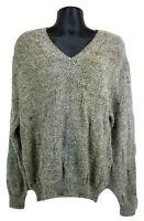 Men's PENDLETON V-Neck Sweater Oatmeal Beige Tan Virgin Wool XL Measures Large L