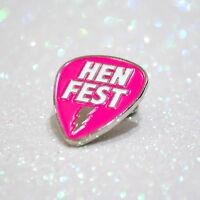 HENFEST Hen Party Badges ~ Bachelorette Party Enamel Lapel Pin Badge
