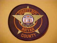 BRYAN COUNTY GEORGIA POLICE PATCH SHOULDER SIZE NEW 4 X 4 INCH