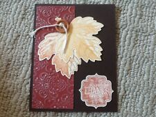 Happy thanksgiving autumn leaves card kit of 10 made w/ Stampin' Up!