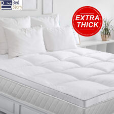 BedStory Mattress Topper Hypoallergenic Down 2' Mattress Pad Cover Thick Q K