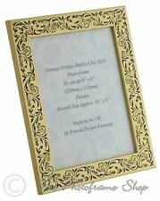Handmade Vintage Gold and Black Floral 8x6 Inch Photo Frame