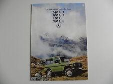 Catalogue / brochure MERCEDES - BENZ les Tout terrain MERCEDES 240 GD à 280 GE