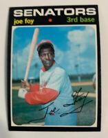 1971 Joe Foy # 706 Washington Senators Topps Baseball Card