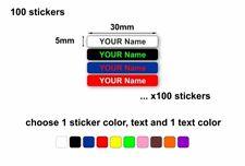 100 x personalised labels sticker waterproof name kids school