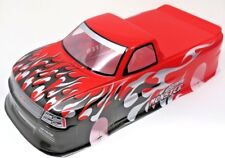 Pre-Painted RC Body 1/10th Scale Red Pick-Up Truck Venom T-10 HPI Chevy S-10