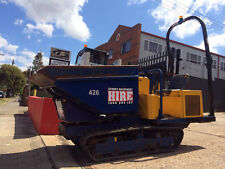 SYDNEY MACHINERY HIRE TIGHT ACCESS TRACKED SWIVEL DUMPER DRY HIRE WITH TRAILER
