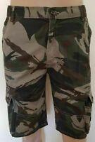 "Men`s New WRANGLER Camouflage Cargo Shorts 32"" Waist Grey/White"