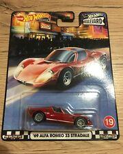 HOT WHEELS Real Rider Boulevard Series 69' Alfa Romeo 33 Stradale
