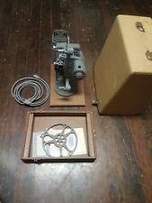 Vintage DeJur 8mm Home Movie Projector Model 750 w/Original Case Ac Cord 1950s