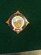 Lawn Bowls Enamel Badge Leicestershire Ladies Tourists Bowling
