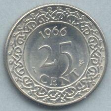 Suriname KM-14 25 cent 1966 AU-Unc