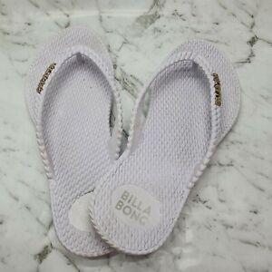 City Beach Women's Billabong Kick Back White Thongs Flip Flops Size AUS 6