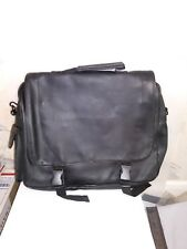 MONARCH FLAP OVER BRIEFCASE FAUX LEATHER 15 X 11 X 3 IN 9 POCKETS +4 PEN G-11