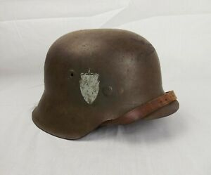 Circa WW2 German Made Norwegian M42 Helmet
