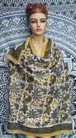 Fabric Women Indian Cotton Hand Block Print Long Sarong Dupata Stole Scarf Gift