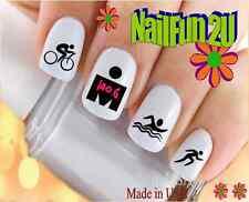 Nail Art #331 SPORTS Triathlon 2 Love 140.6 Black WaterSlide Nail Decal Transfer
