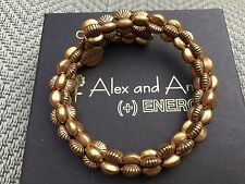 BOX & CARD ALEX and ANI VINTAGE 66 GROOVE Russian GOLD Beaded Wrap BRACELET