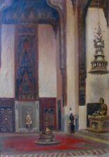 P. Thirault, Palais Zeinab Khatoun, Le Caire, 1944, orientalisme, huile panneau