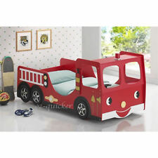 Kids Racing Car Bed Children Bedroom Furniture Funky Fire Engine Bed Single Size